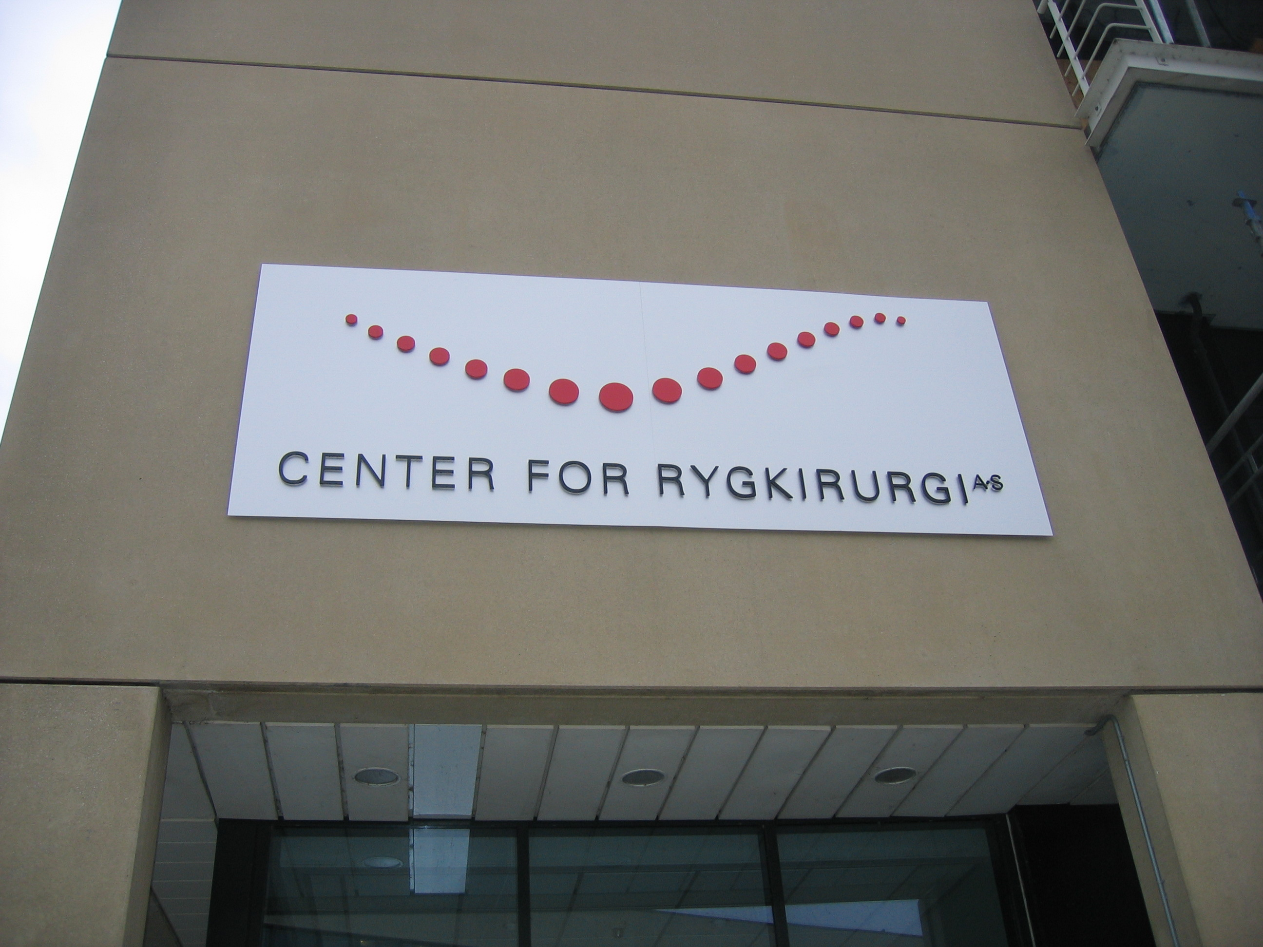 Center for Rygkirugi A/S - Facadeskilt